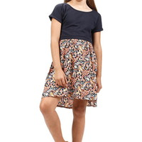 PAISLEY PATTERN PRINT DRESS GIRLS