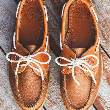 Boat Shoes - Sailor's Rum Tan - by Kiel James Patrick
