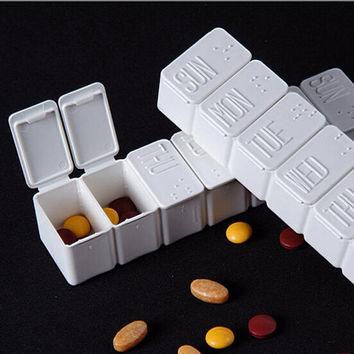 Weekly Moistureproof Pillbox Travel Pill Case Pill Organizer Medicine Box Drugs Pill Container for Tablets Waterproof Container