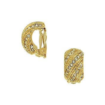 Filigree Hoops with Sparkle Clip On Earrings