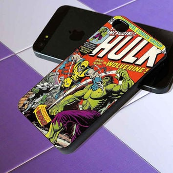 First Comic Book Appearance of Wolverine - iPhone 4 / iPhone 4S / iPhone 5 / Samsung S2 / Samsung S3 / Samsung S4 Case Cover