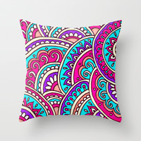Melody Throw Pillow by PeriwinklePeacoat | Society6