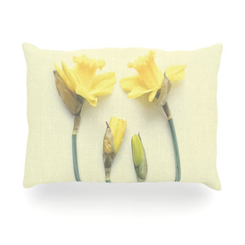 "Debbra Obertanec ""Springtime Yellow"" Tulip Oblong Pillow"