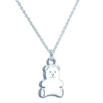 DALBY STERLING SILVER TEDDY BEAR NECKLACE