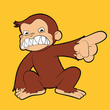 Furious George, Curious George vs Evil Monkey Art Print by Olechka