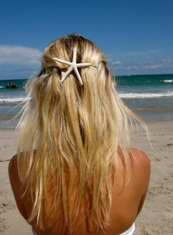 Custom Starfish Hair Accessories- Skinny White Starfish