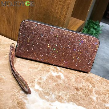 Bling Sequins Wallets Women Long Wallets Purse Clutch Bag Card Holder Zipper Glitter Party Wallet Purses Fashion Women Money Bag