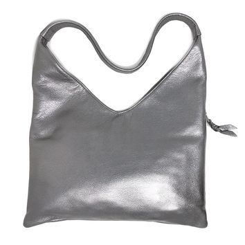Sven Design Pewter Leather Hobo Bag