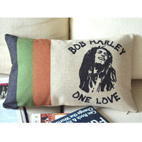 Bob Marley Print Decorative Pillow B [005] : Cozyhere