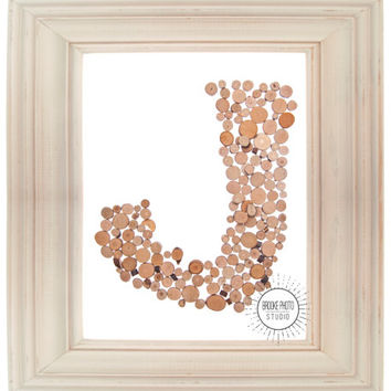 Letter J Wooden Fairytale Tree Trunk Initial DIY Printable Monogram Photograph Instant Download