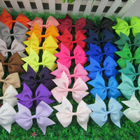 3.5 inch high quality grosgrain ribbon hair bows.(32pcs/lot)