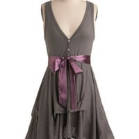 Craft Party Dress in Stone Grey