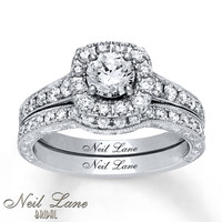 Neil Lane Bridal Set 1-1/2 ct tw Diamonds 14K White Gold