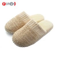 New Home Slippers Autumn Winter Warm Unisex Men Women Cotton-padded Lovers At Home Slippers Indoor Shoes plush slippers