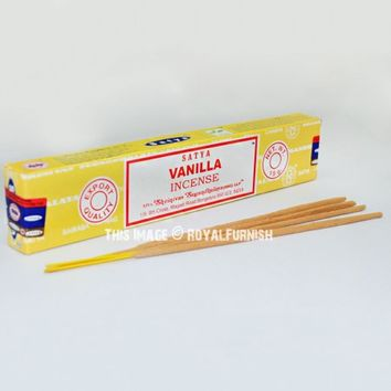 Satya Sai Baba Vanilla Incense Sticks 15 Gram on RoyalFurnish.com