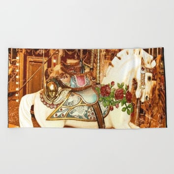 Carnivale Beach Towel by Jessica Ivy