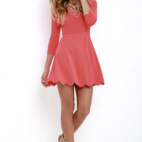 Cumulonimbus Clouds Coral Red Skater Dress