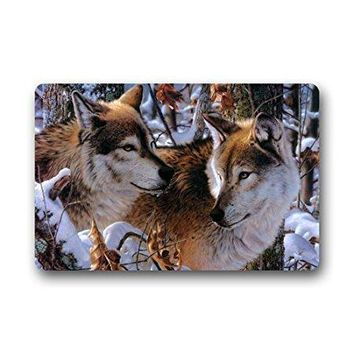 CHARMHOME Fashion Living Room Doormat Wolf Couple Love Camo Tree Doormat Custom Door mat Home decor Carpet Fashion Rug