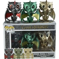 Funko POP! Game of Thrones Metallic Dragons 3 Pack