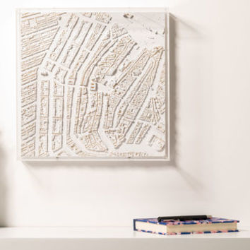 3D Amsterdam Map Wall Art