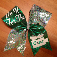 Cheer Bow, Do It For The Vine Cheer Bow,  Bella Bows