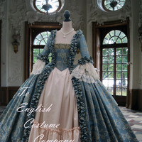 Rococo.Colonial Georgian 18thc Marie Antoinette Day Court gown. Fully Corseted..