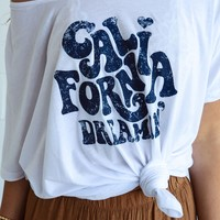 California Dreamin' Graphic Tee - White