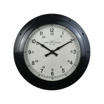 Army Air Corps Officer's Club Wall Clock - 18-in