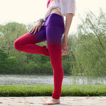 Purple and Pink Layer Design Trousers