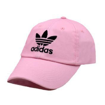 Pink Adidas Embroidered 100% Cotton Adjustable Cap