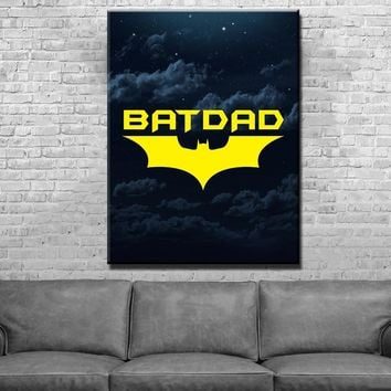 Bat Dad Father's Day Canvas Set