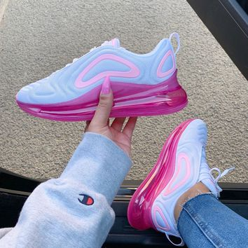 Shop Pink And White Nike Air Max on Wanelo