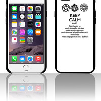Supernatural Keep Calm and Exorcise 5 5s 6 6plus phone cases
