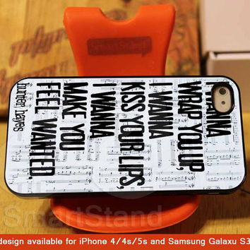 Wanted Lyrics Hunter Hayes Design for iPhone 4/4s/5/5s/5c, Samsung Galaxy S3/S4 Case