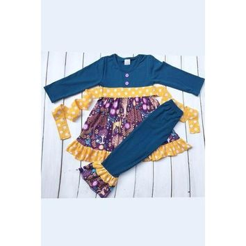 Navy Forest Tunic and Legging Set