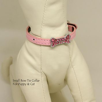 Dog Cat Collar, Leather, Charm, XS Collars,  Puppy collars, Cat Collar, kitten collar, Pet collar