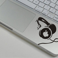 Headset Macbook sticker Macbook pro decal Macbook air decal Apple decal sticker