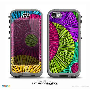 The Colorful Segmented Wheels Skin for the iPhone 5c nüüd LifeProof Case