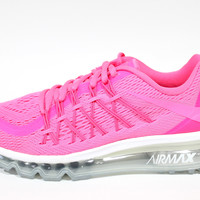 Nike Girl's Air Max 2015 Pink Pow/White Running Shoes 705458 601