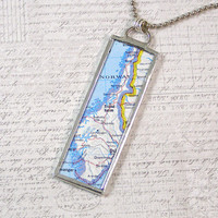 Norway Map Pendant Necklace