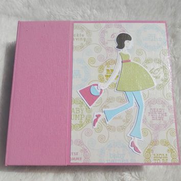 6x6 Pregnancy Scrapbook Photo Album for Mother to Be