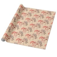 Horse Tails Wrapping Paper