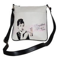 Audrey Hepburn Signature Product Women's Audrey HepburnTM Messenger Bag AH811,Black,US