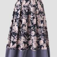 Ivy Cottage Floral Midi Skirt