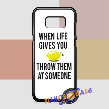 When Life Gives You Lemons Samsung Galaxy S8 Case Planetscase.com