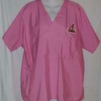 Alabama Crimson Tide Patch Scrubs Pink Size Large