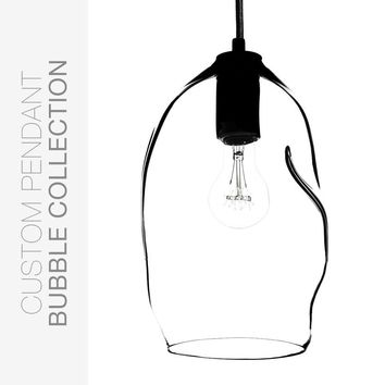 Custom Design Your Bubble Hand Blown Glass Pendant Light