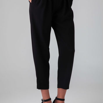Nili Lotan Cropped Slouchy Pants in Black