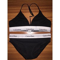 Calvin Klein Cotton T-Back Underwear Lingerie Triangle Set