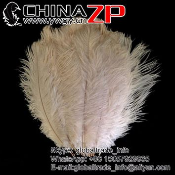 CHINAZP Factory 40~45cm(16~18inch) Length 100pcs/lot Beached White Ostrich Feathers for Wedding Centerpieces